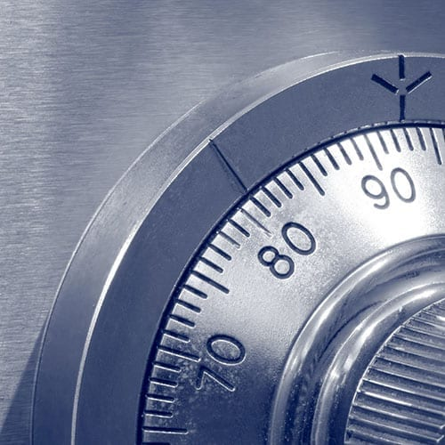 Closeup of Combination Safe Lock - Tax investigation image