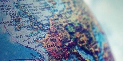 World Globe Close Up - International Tax Image