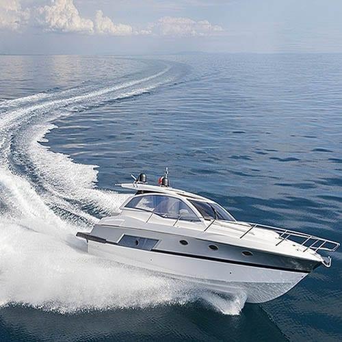 Cruiser in motion Marine image