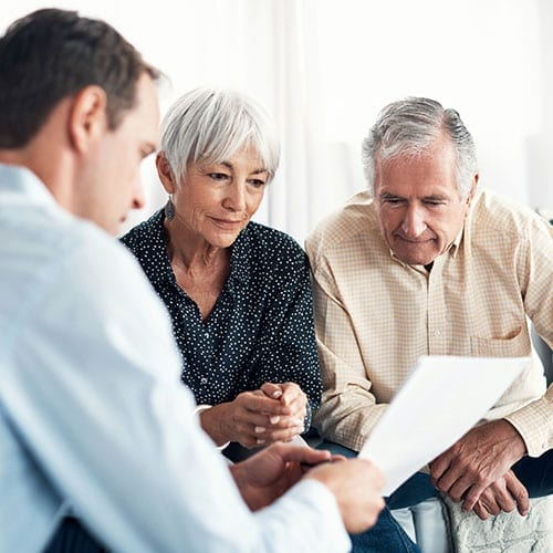 Trust and Estates image - Elderly couple looking at documents