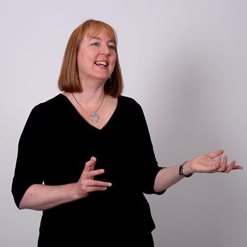 Sharon Austen - Expressive image with grey background