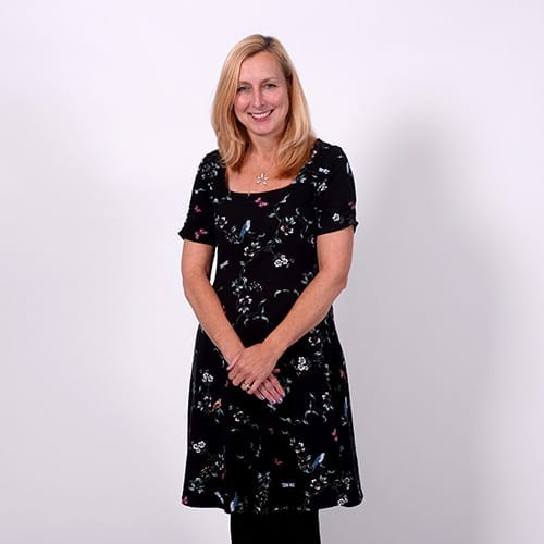 Michelle Willcock - Full body image with grey background