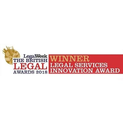 Winner legal services innovation award