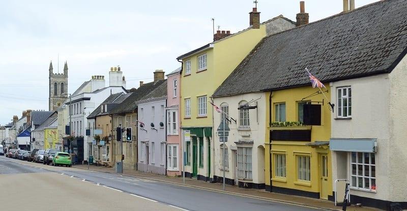 High Street In Honiton,Devon