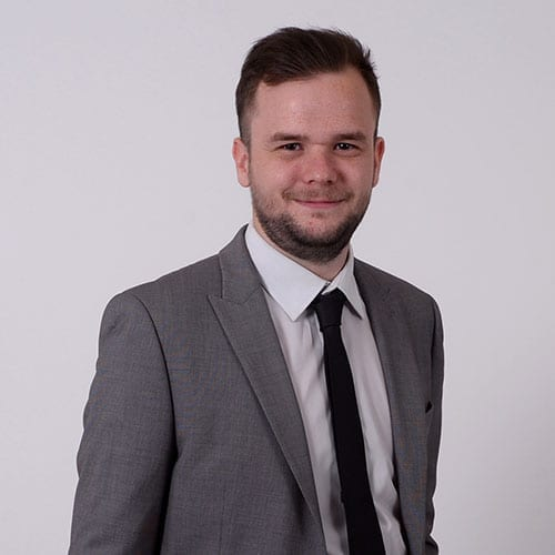 Liam Evans - formal image with grey background