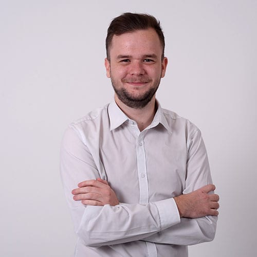 Liam Evans - main image with grey background