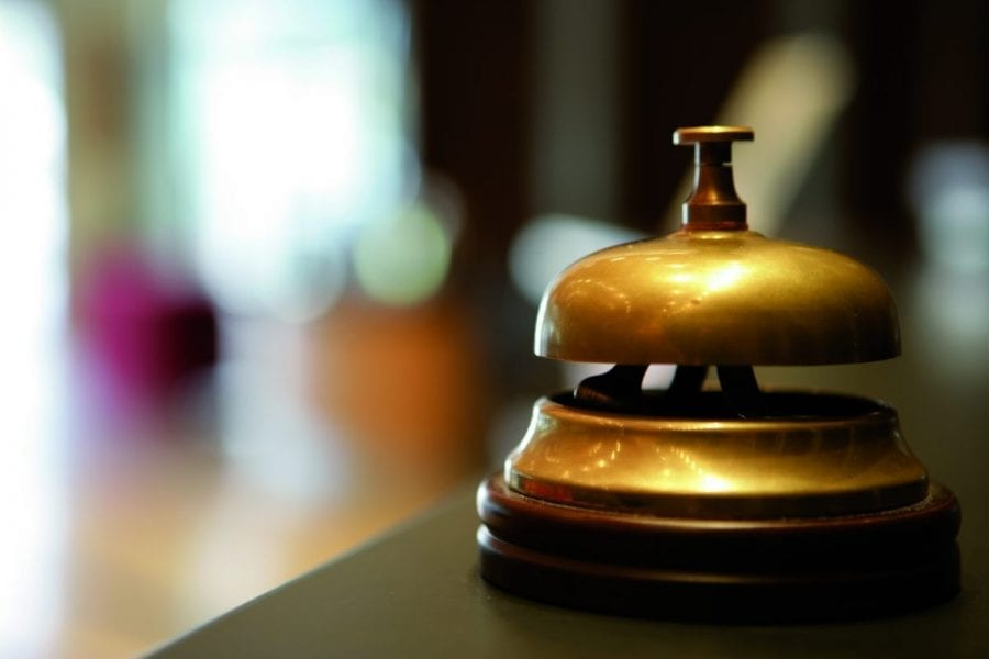 Close Up Of Reception Bell